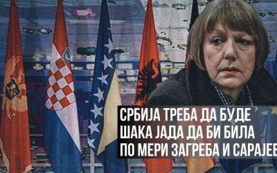Србија треба да буде шака јада да би била по мери Загреба и Сарајева?