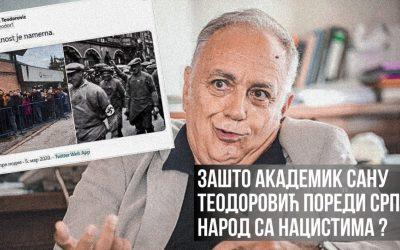 Зашто академик САНУ Теодоровић пореди Србе са нацистима?